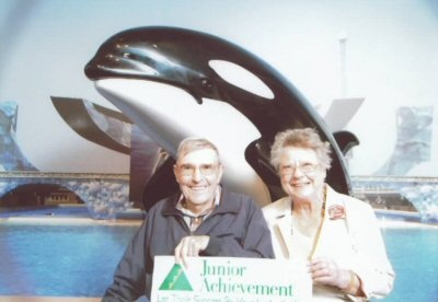 Bob and Betty Beyster at Junior Achievement